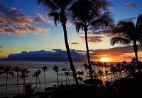 ハワイ マウイ島 夕暮れのカアナパリビーチ