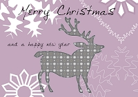 クリスマスカードのデザインイラスト