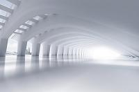 アーチのある白いサイバー空間