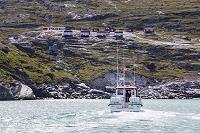 グリーンランド エキップ氷河近くのロッジ