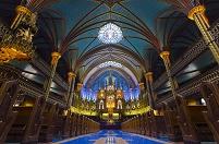 カナダ モントリオール・ノートルダム聖堂