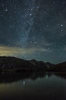 長野県 八方池と白馬三山と星空