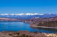 山梨県 三国峠から山中湖と南アルプス
