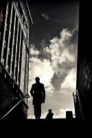 イギリス 地下鉄の駅の階段