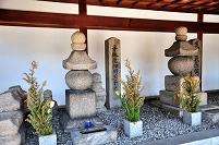 大阪府 細川玉子の墓と足利義教の首塚