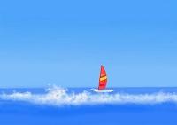 蒼い海とヨット
