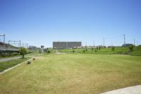 新興住宅地と公園