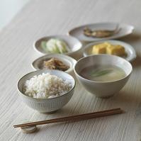 玄米ごはんのある朝食