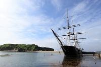 北海道 江差町 開陽丸(徳川幕府の軍艦)とかもめ島