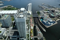 神奈川県 ランドマークタワーからの風景