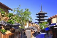 京都府 八坂の塔と家並
