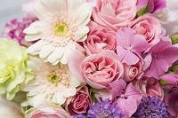 ピンク紫のグラデーション花束