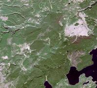 衛星画像 アメリカ イエローストーン国立公園