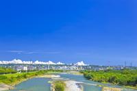 東京都 多摩川と府中四谷橋
