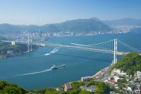 山口県 関門橋 関門海峡