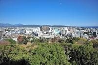 神奈川県 小田原城より北東をみる 相模湾