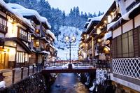 山形県 雪の銀山温泉