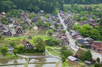 岐阜県 天守閣展望台より見下ろす白川郷