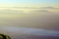 長野県 朝の八方尾根からの山並み