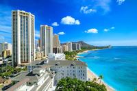 ハワイ オアフ島 ダイヤモンドヘッドとワイキキビーチ