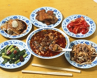 中国 四川省 成都市 麻婆豆腐と料理