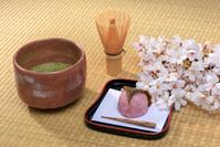 抹茶と桜餅