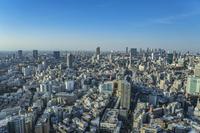 恵比寿から望む渋谷、新宿方面の街並み