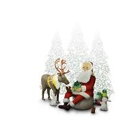 サンタクロースと動物