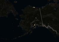 アラスカ衛星画像