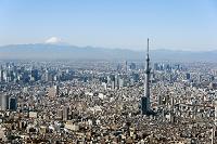 東京都 富士山と東京スカイツリー