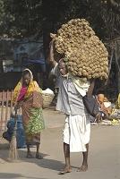 インド・コナーラク 荷物を担ぐ男性