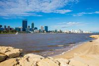オーストラリア パース スワン川と街並み