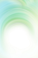 白色と緑色の光と曲線 CG