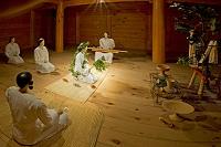 吉野ヶ里歴史公園 主祭殿の儀式(祖先の霊のお告げ)