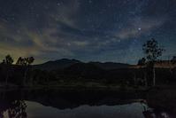 長野県 乗鞍岳と星空