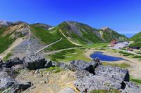 大黒岳より畳平と恵比寿岳と鶴ヶ池