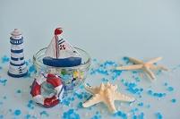 ヨットと貝殻の夏小物