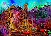 インド エローラーの石窟寺院群
