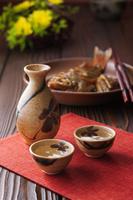 日本酒と眼張の煮付け