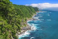 岩手県 海霧晴れる鵜の巣断崖