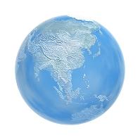 半透明な地球儀