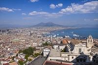 イタリア ナポリ ナポリ市街とヴェスヴィオ火山