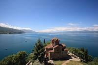 北マケドニア オフリド 聖ヨハネ・カネヨ教会 オフリド湖