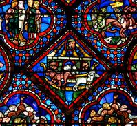 フランス シャルトル大聖堂のステンドグラス