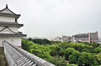 兵庫県 明石城巽櫓と明石市街