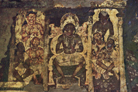 インド アジャンター石窟群 第2窟 壁画
