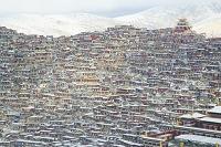中国 四川省 ラルンガル・ゴンパ(チベット仏教の町)