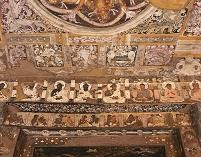 インド アジャンタ石窟群 第17窟 天井画