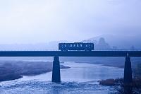愛媛県 大洲JR鉄橋列車