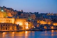 マルタ共和国 グランド・ハーバーとバレッタ旧市街